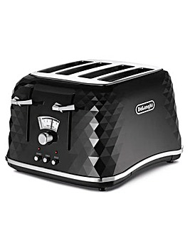 DeLonghi Brillante 4 Slice Black Toaster