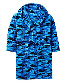 KD Boys Camo Dressing Gown