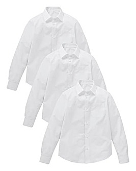 KD Older Boy 3 Pack L/S School Shirts S
