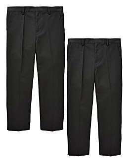 KD Boys Pack of Two Trousers Generous Fit