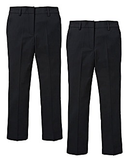 KD Girls Pack of Two Stretch Trousers