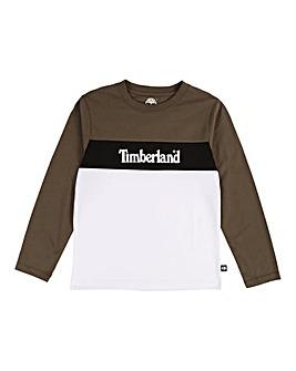 Timberland Boys L/S Colour Block Top