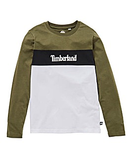 Timberland Boys L/S Colour Block Top