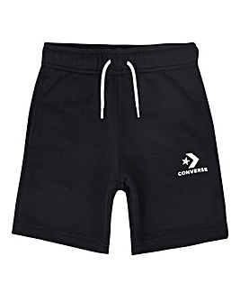 Converse Boys Black Stacked Logo Shorts