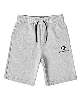 Converse Boys Grey Stacked Logo Shorts