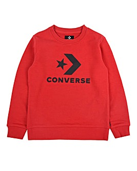 Converse Boys Stacked Logo Sweatshirt