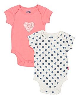 Kite Polka Rose Pack of Two Body Suits