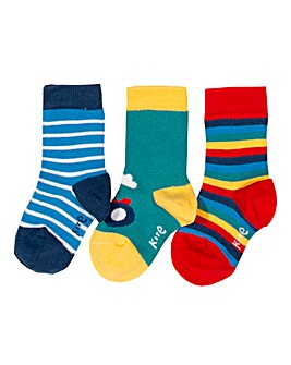Kite Three Pack Farm Life Socks