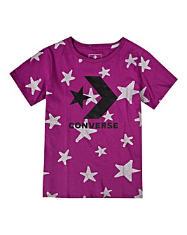 Converse Girls Pink Chevron Knit Top