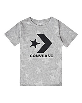 Converse Girls Grey Chevron Knit Top