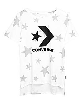 Converse Girls White Chevron Knit Top