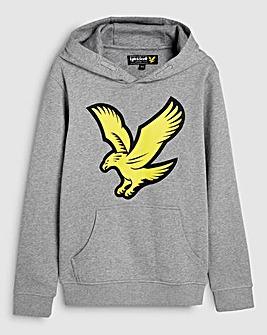 Lyle & Scott Boys Grey Logo Hoodie
