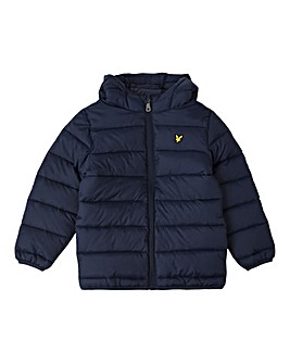 Lyle & Scott Navy Puffa Jacket