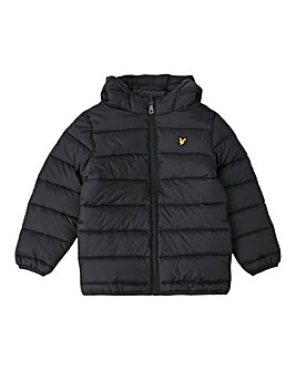 Lyle & Scott Black Puffa Jacket