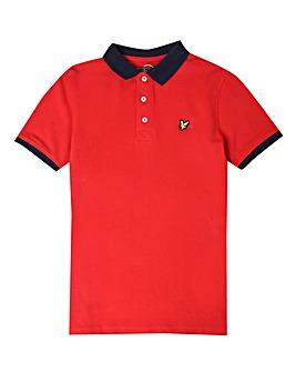 Lyle & Scott Boys Red S/S Ringer Polo