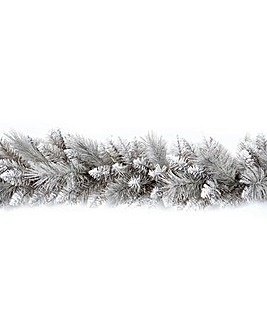 Grey Glitter Tipped 1.8m Garland