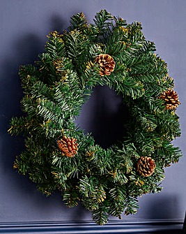 Gold Ridge Tipped 50cm Wreath