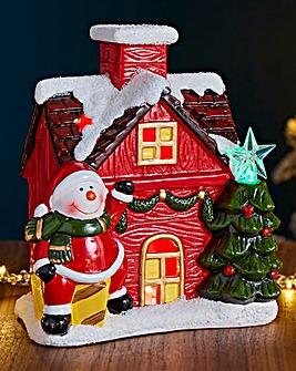 Ceramic Snowman House