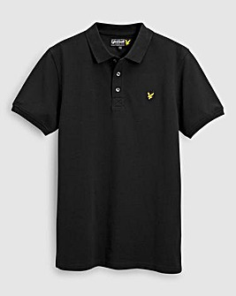 Lyle & Scott Boys Black S/S Polo