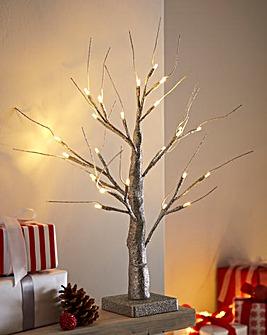 Table Top Lit Glitter Tree