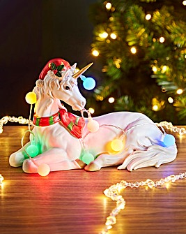 Christmas Unicorn with Lights