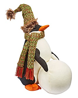 Penguin & Snowball Doorstop