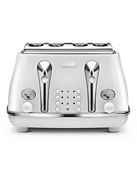Delonghi Elements 4 Slice White Toaster