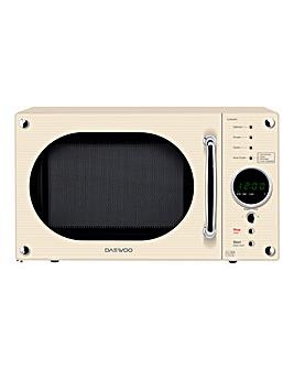 Daewoo 800W Touch Dial Cream Microwave