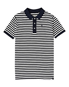 Original Penguin Boys Navy Stripe Polo