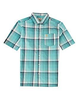 Original Penguin Boys Blue Check Shirt