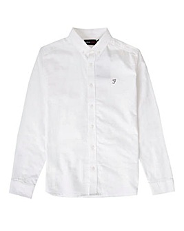 Farah White Long Sleeve Oxford Shirt