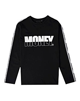 Money Black Track Long Sleeve T-Shirt