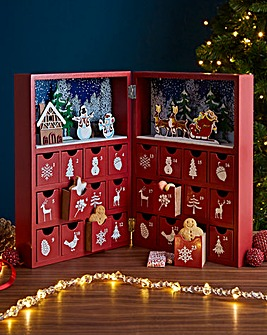 Wooden Christmas Book Advent Calendar