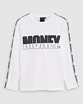 Money White Track Long Sleeve T-Shirt