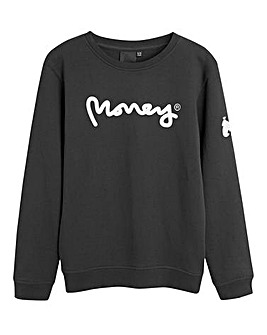 Money Black Print Sweatshirt