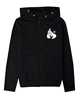 Money Black Zip Through Hoodie