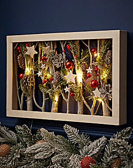 Wood Frame Christmas Forest