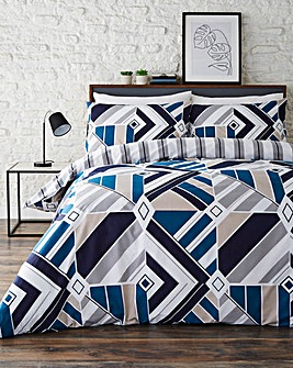Jackson Geo Printed Reversible Duvet Cover Set