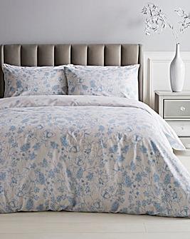 Bonnie Blue Floral Reversible Duvet Set