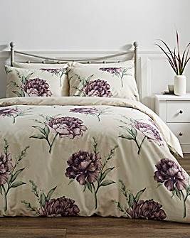 Marsha Grey Floral Printed Duvet Cover Set