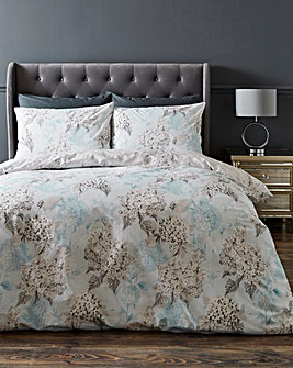 Dana Blue Floral Cotton Duvet Set