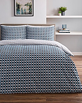 Milton Printed Reversible Duvet Cover Set