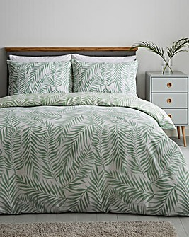 Avery Palm Print Reversible Duvet Cover Set