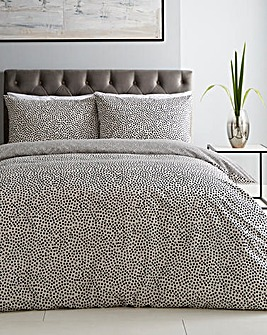 Nim Dotty Printed Reversible Duvet Cover Set