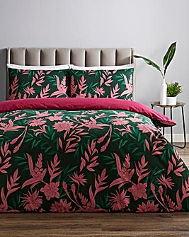 Delilah Floral Printed Reversible Duvet Cover Set
