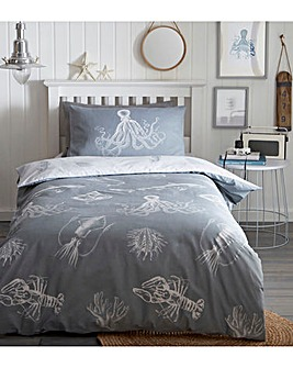 Ocean Life Glow In The Dark Duvet Set