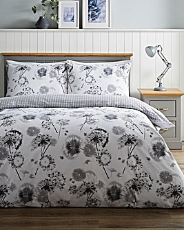 Willow Floral Printed Duvet Cover Set