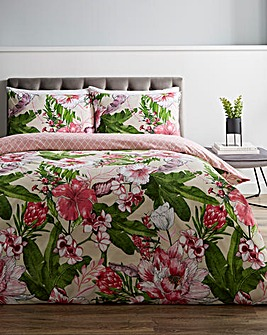 Azalea Pink Floral Duvet Cover Set