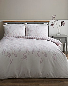 Eden Lilac Floral Brushed Cotton Duvet Cover Set