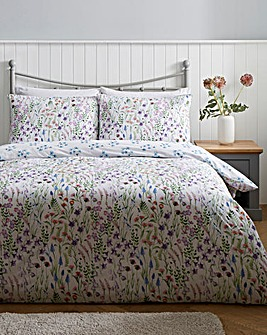 Athena Floral 180 Thread Count Cotton Duvet Cover Set